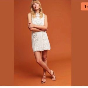 NWT Anthropologie crochet mini dress